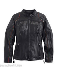 Harley Davidson Women ECLIPSE TripleVent Waterproof Leather Jacket 98069-14VW 1W