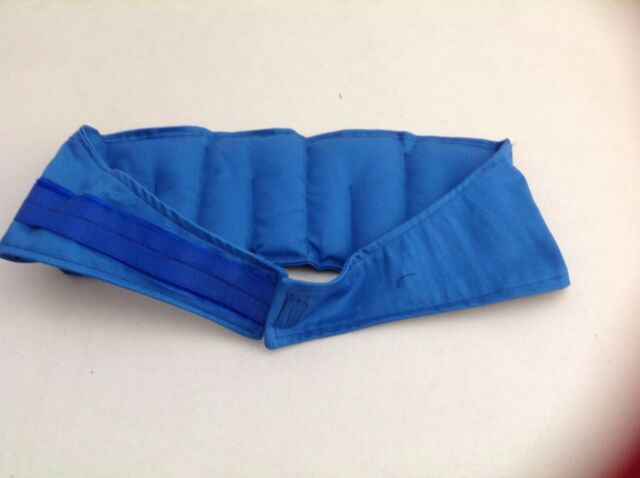 BLUE /Heat / Wheat Bag for Lower Back - adjustable - pain relief
