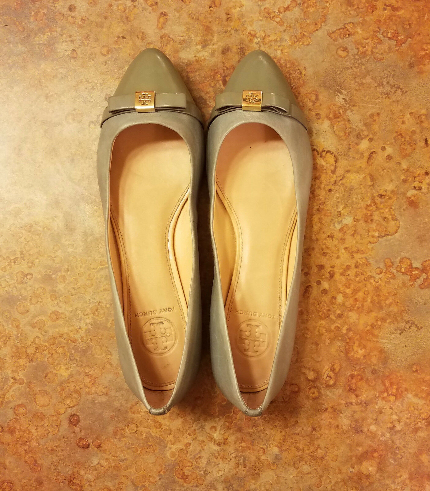 Tory Burch 'Bow' bluee Green Patent Leather Ballet Ballet Ballet Flat Womens Size 9 C MSRP  255 3a37ca
