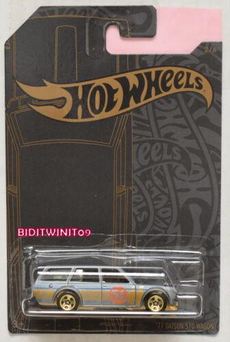 Hot Wheels 2019 Raso /& Cromo 51ST Anniversario /'71 Datsun 510 Carro