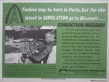 6/1967 PUB CONDUCTRON MISSOURI BOEING 737 DIGITAL FLIGHT SIMULATOR ORIGINAL AD