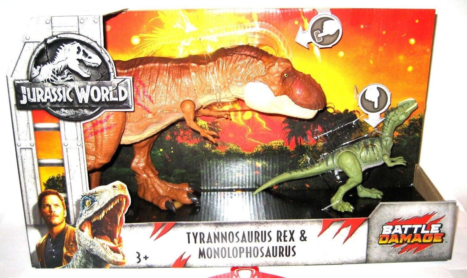 Jurassic World 2 Fallen Kingdom Figure Battle Damage T-Rex & Monolophosaurus