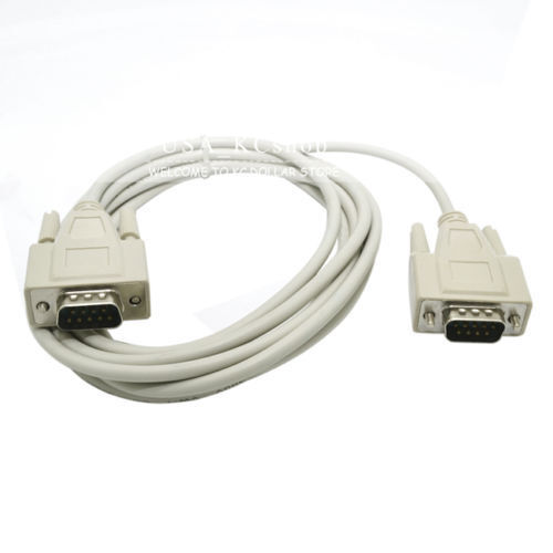 10ft Male to Male M//M Serial DB9P DP9 Pin RS232 PC Converter Extension Cable