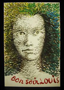 Denyse De Bravura (1918-1993) 2 Portraits Dessins Originaux à La Goauche 37 Cm