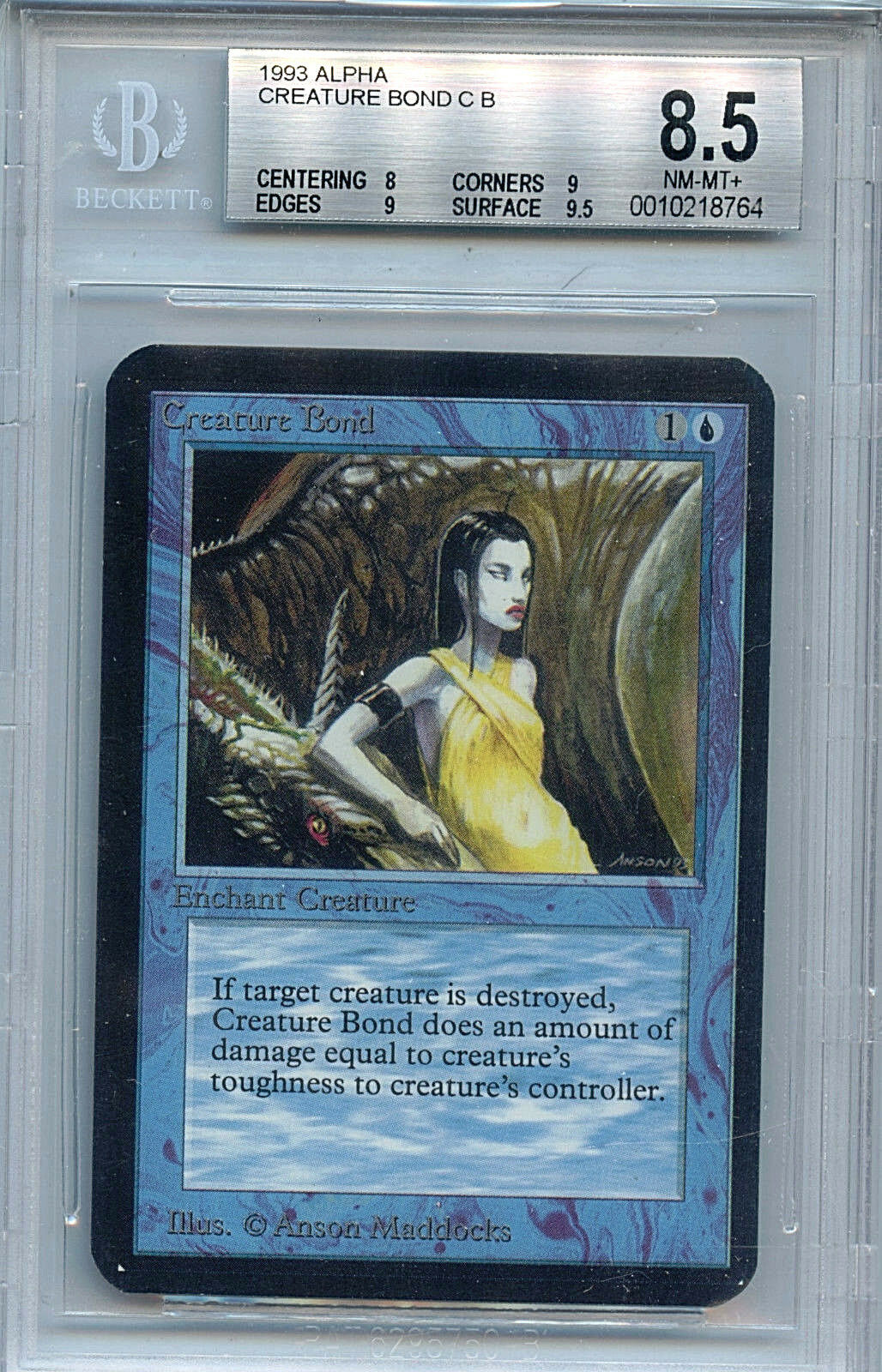 MTG Alpha Creature Bond BGS 8.5 NM-MT+  card Magic the Gathering WOTC