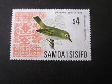 SAMOA, SCOTT # 274B, $4.00 VALUE ORANGE & BLACK 1967 LOCAL BIRDS ISSUE USED