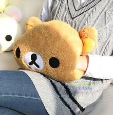 Rilakkuma San-X Bear 2in1 Plush Winter Warm Hand & Back Cushions Nap Pillow