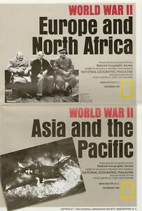 Details about WORLD WAR 2 Maps Europe North Africa Asia Pacific Churchill  Stalin Roosevelt