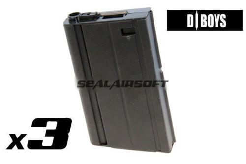 D-BOYS 360rd HI-CAP Airsfot Toy Magazine For SCAR-H Gen III (SC02) AEG BK 3PCS