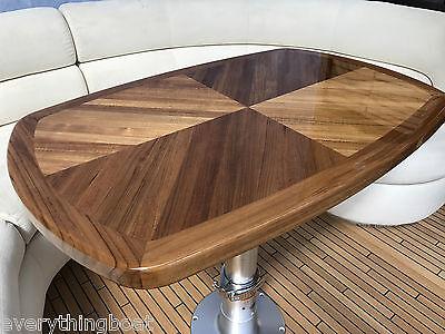 High Gloss Varnish Interior Marine Boat Teak Table Five Sizes