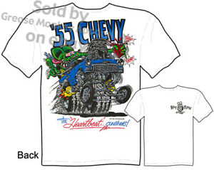 55-Chevy-Rat-Fink-T-shirt-Big-Daddy-T-1955-Gasser-Hot-Rod-Tee-Sz-M-L-XL-2XL-3XL