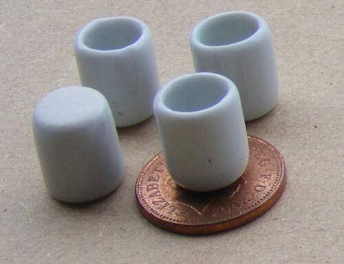 1:12 SCALA 4 bianco in ceramica BICCHIERI tumdee Casa delle Bambole Accessorio Bere W57