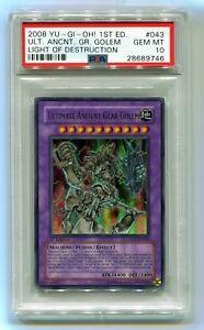 Yu-Gi-Oh-1st-Edition-Ultimate-Ancient-Gear-Golem-LODT-EN043-PSA-10-GEM-MINT