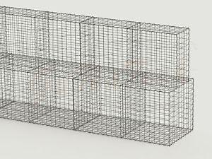 10m gabionenwand st tzwand gabionen hangbefestigung schwergewichtswand 2m hoch ebay. Black Bedroom Furniture Sets. Home Design Ideas