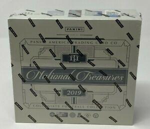 Panini 2019 National Treasures Collegiate Football Cards Sealed Hobby Box