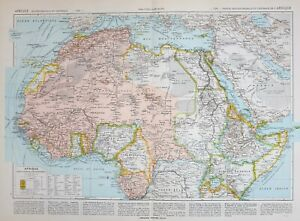 Map Of Africa Nigeria.Details About 1913 Map North Africa Nigeria Abyssinia Somali Tigre Sierra Leone Morocco