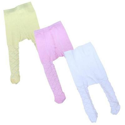 Baby Infant Clothes Girls Christening Party Pink White Cream Tights NB 3 6 9 12m