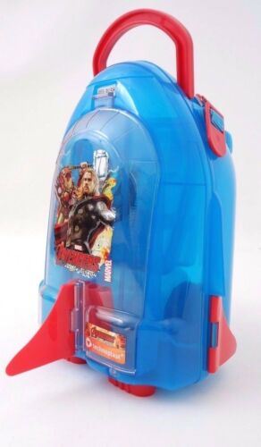 Marvel Avengers Assemble Age Of Ultron Lunch School Box Train Carry-On Set NWT