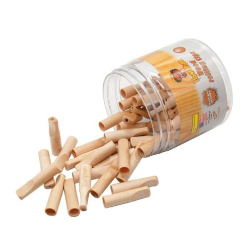 5X HONEYPUFF Natural Wood Flavor 40MM Rolling Wood Filter Tips Tobacco Hand Tips