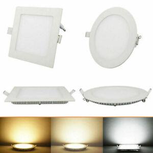 Ultraslim-LED-Panel-Einbau-Decken-Wandleuchte-Einbaustrahler-Leuchte-mit-Trafo