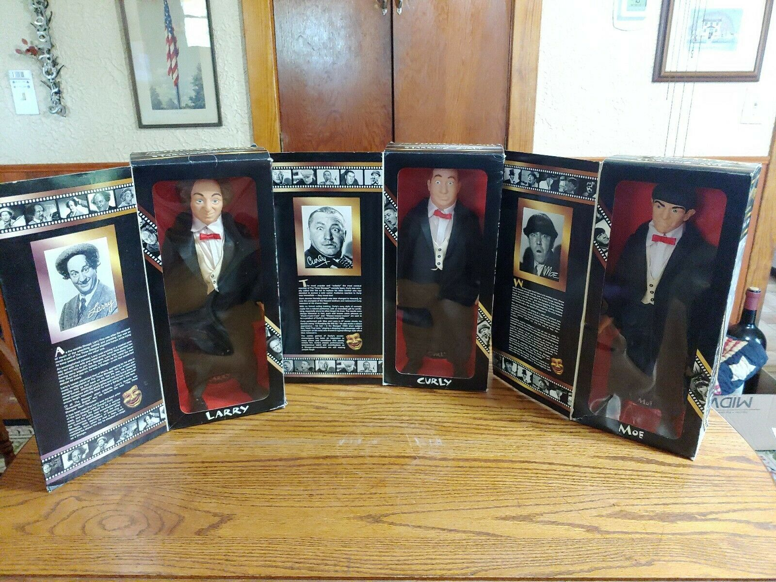 The Three Stooges Collector's Edition Starring Larry ,Curly And Moe Dolls