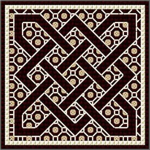 Celtic Knots 2 Counted Cross Stitch /& Blackwork Kit DoodleCraft Minis