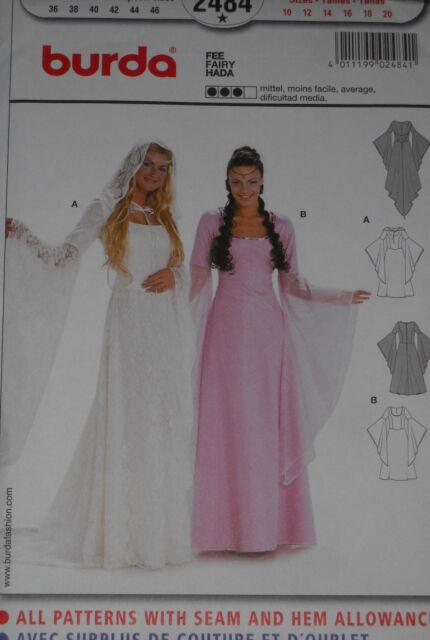 Medieval Wedding Dress Renaissance Costume Size 10-20 Burda 2484 Sewing Pattern*