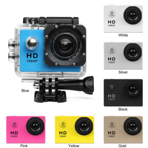 "2"" 1080P Waterproof Sports Camera Action Mini DV Video Cycle"