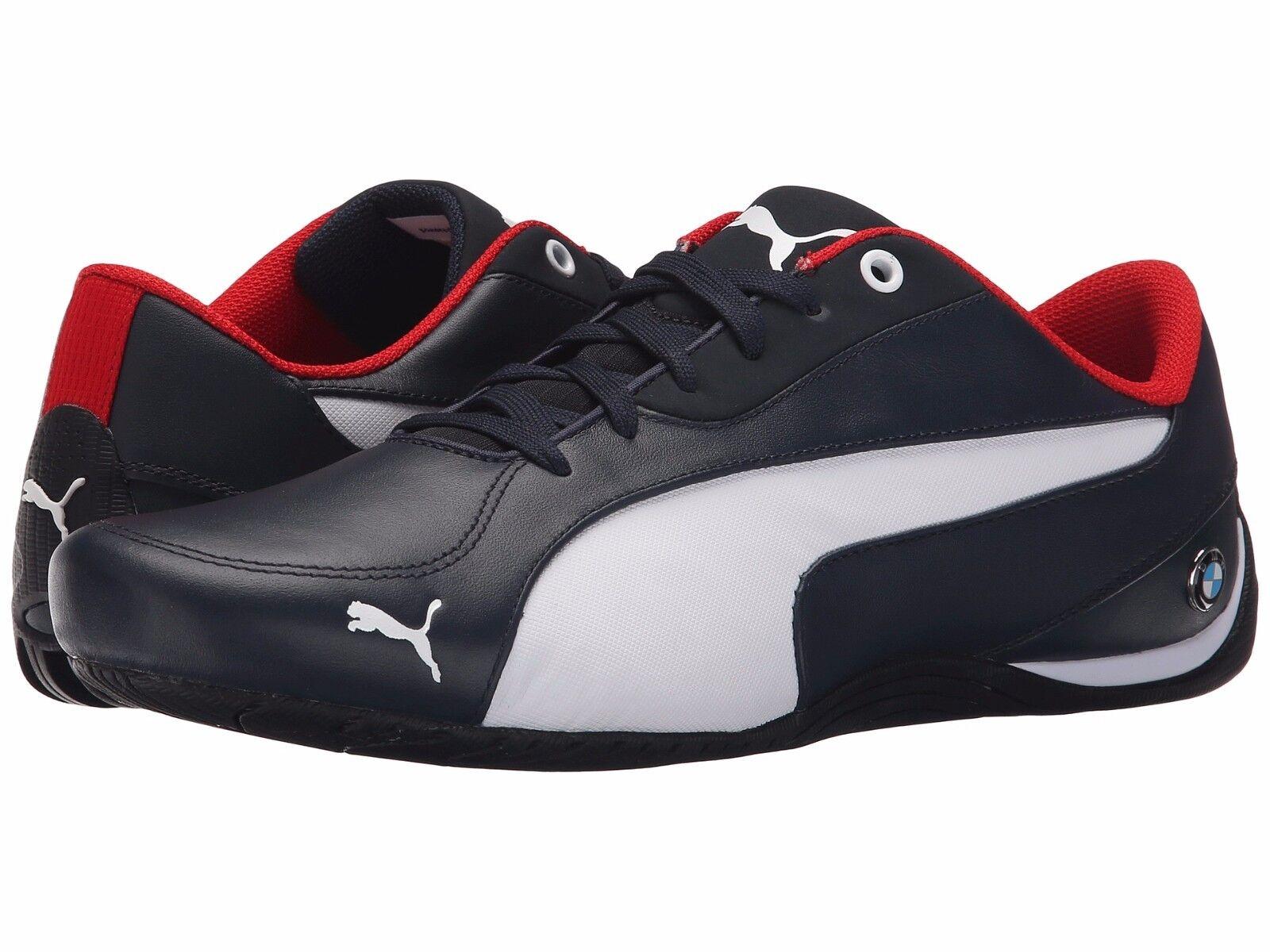 110 NIB Men's PUMA BMW Drift Cat 5 Leather shoes 305648-02 SF bluee Navy