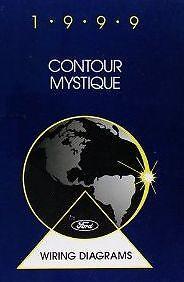 1999 FORD CONTOUR /& MERCURY MYSTIQUE Electrical Wiring Diagram Manual EWD OEM