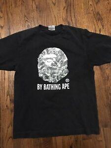 Bape X Kaws >> Vintage Bape X Kaws Ape Logo Shirt 100 Authentic Size Medium Ebay