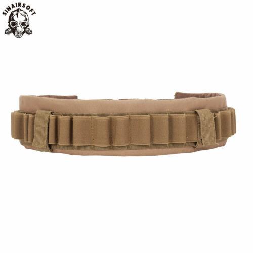 Tactical 12//20GA Gauge Shotgun Shell Holder Bandolier Ammo Carrier Belt Hunting