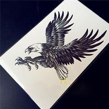 3D Large Black Eagle Tattoo Stickers Men Body Art Temporary Tattoos Fake Tatoo