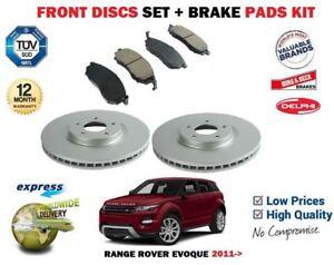 para-Range-Rover-Evoque-2-0-2-2-2011-gt-Delante-300mm-Juego-discos-freno