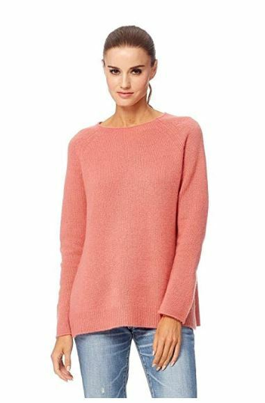 360 Cashmere Cashmere Pull Kayla Sienna Rose Taille L Rrp £ 215 Neuf & étiquettes