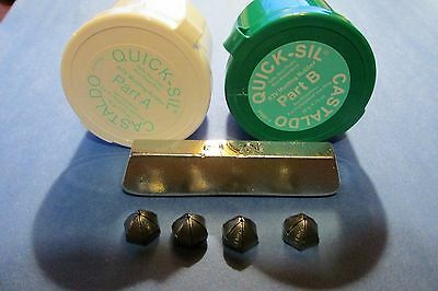 3 ozs Quick Sil RTV Silicone Mold Compound And 1/4Lbs. Pewter Casting Ingots