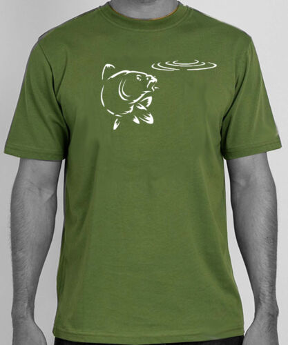 Original art sketch carp fishing angling t-shirt