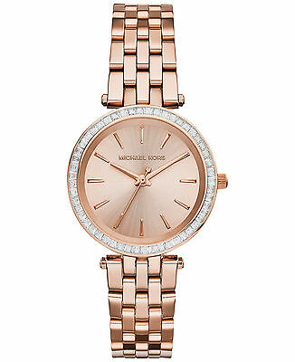 NEW MICHAEL KORS MK3366 LADIES ROSE GOLD MINI DARCI WATCH 2 YEARS WARRANTY | eBay