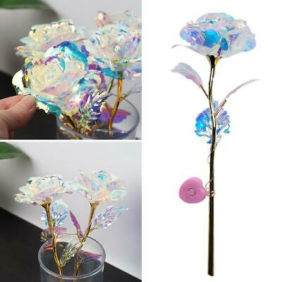 LED Galaxy Rose Flower Valentine/'s Day Gift Romantic Crystal Rose 2020 Z7G0