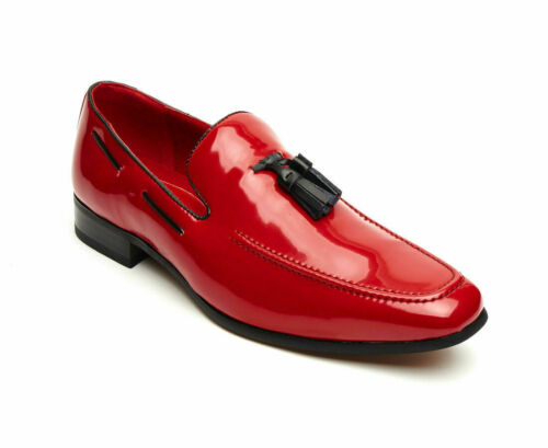 Men/'s Rossellini Jersey Moccasin Faux Suede Loafer Tussle Party Events Shoes