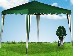 Tente pliante tonnelle pavillon pliable 3x3m vert ombre JARDIN + sac transport