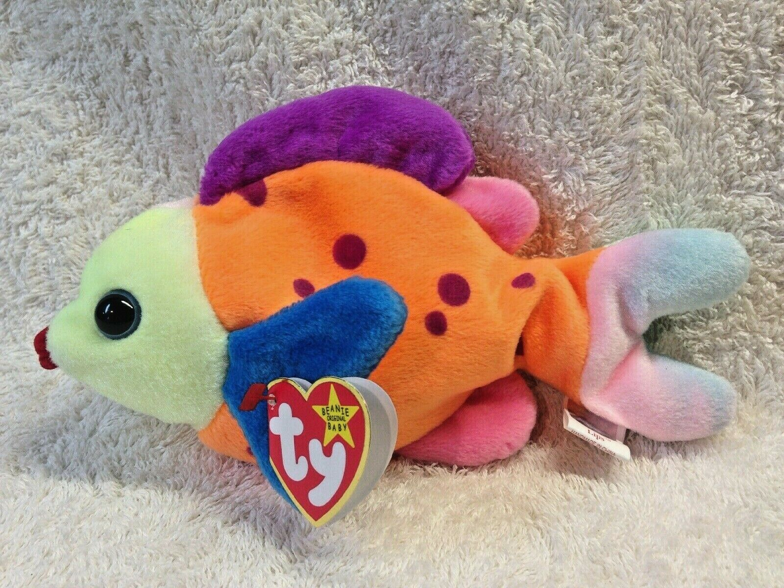 Lips TY Beanie Baby With Tag Errors