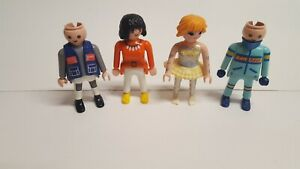 PLAYMOBIL-4-Fairy-Ballerina-Tutu-Kart-Race-Mechanic-Orange-Shirt-Girl