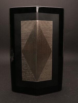 """Rosenthal Porzellan Vase Studio-Line Porcelaine Noire """"Platinnebel"""" ca. 18 cm"""
