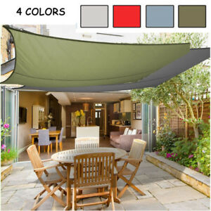 New Cool Sun Shade Sail Garden Patio Awning Canopy Uv Block