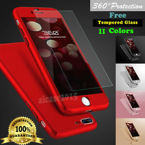 Cheap Sale For Iphone 6 Cases, Covers & Skins Cell Phone Accessories 6s Plus 360° Full Tempered Glass Screen Protector Hard Case Cover
