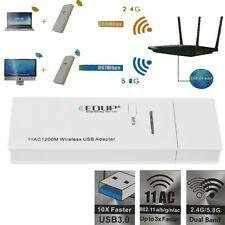 Hot Dual Band 5G 2.4G USB 3.0 Wireless 802.11ac a/b/g/n 1200Mbps WiFi Adapter
