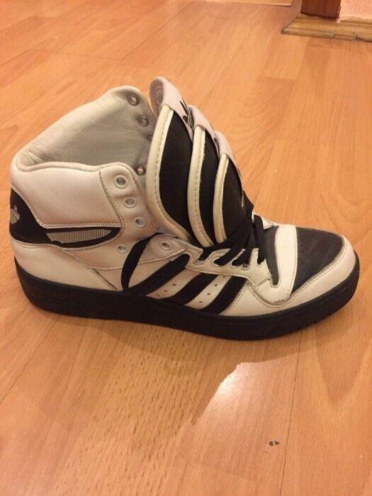 Adidas jeremy scott scarpe ali metro atteggiamento 3 lingua lingua ali scarpe scarpe g16456 81d365