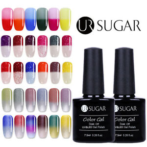 7-5ml-UR-SUGAR-Color-Changing-UV-Gel-Polish-Glitter-Top-Coat-Base-Coat-Nail-Art