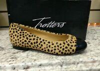 Trotters Chic Slip- On Flat Classy And Cute In Tan Cheetah Reg.$130